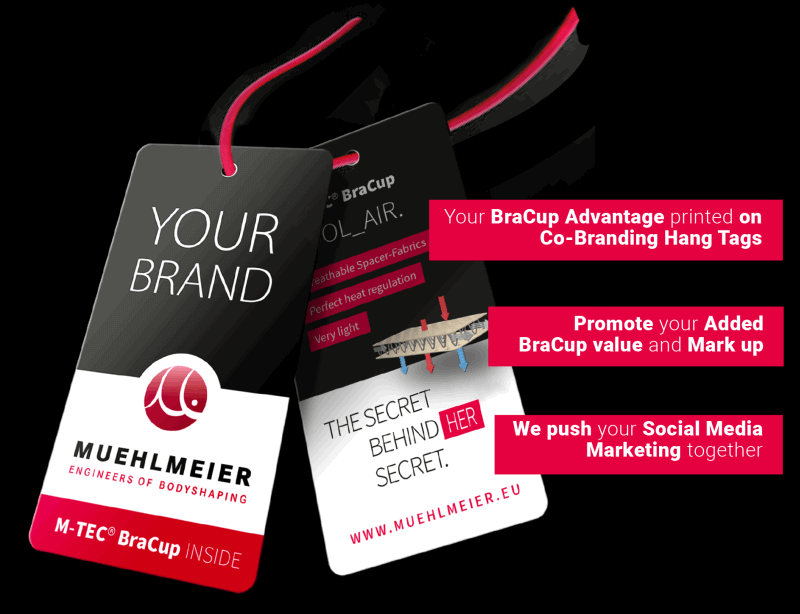 M-BraCup Advantages for your brand with clearly communicated benefits and additional product features