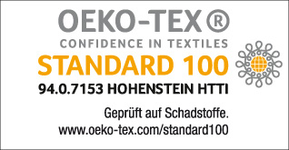 Oeko-Tex Standard 100 certification for MUEHLMEIER BraCups